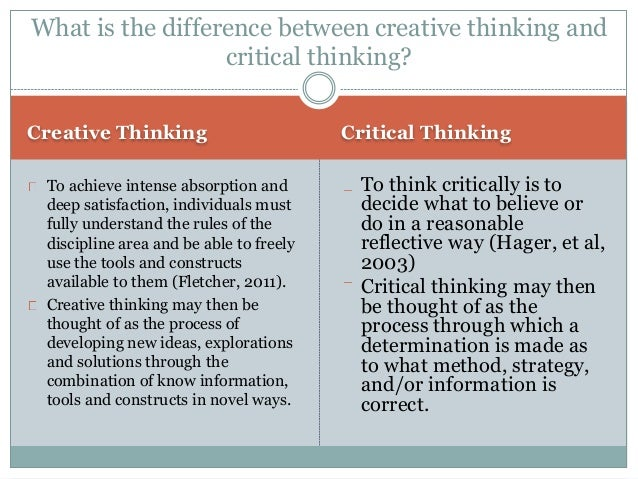 tok essay critical and creative thinking Tok essay: unpacking the title#1 knowledge is generated through the interaction of critical and creative thinking evaluate this statement in two.