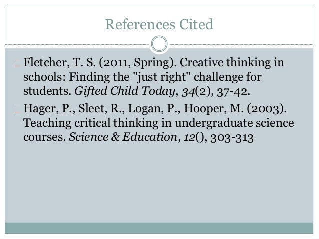 Role of critical and creative thinking in enhancing quality education