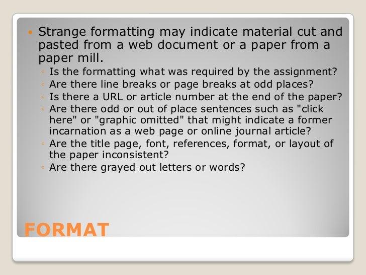 Strategies for detecting plagiarism Slide 2