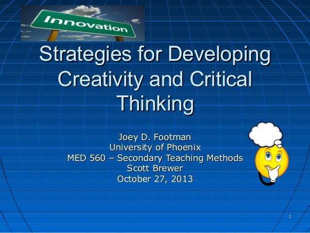 Strategies to develop critical thinking in students