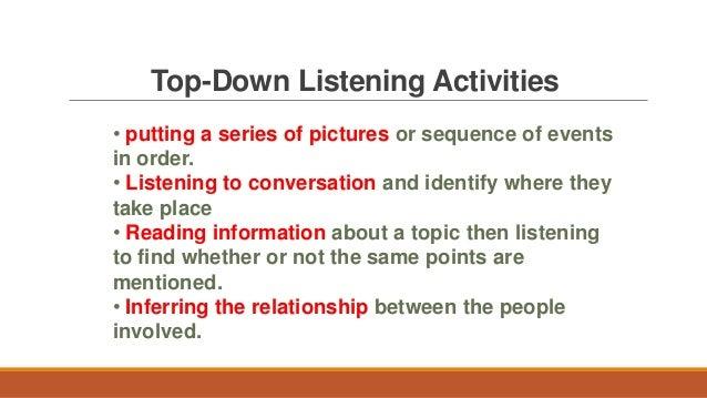 Strategies for developing listening skills