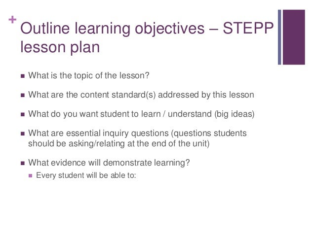 Strategies for effective lesson planning flipped classroom 6 outline learning objectives stepp lesson plan altavistaventures Choice Image