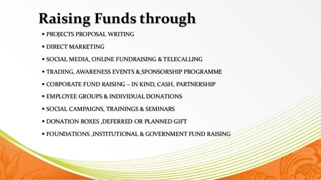 writing a fundraising proposal