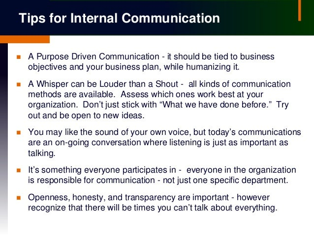 internal communication plan