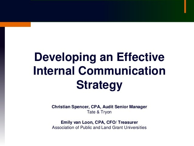 Internal communication strategy university