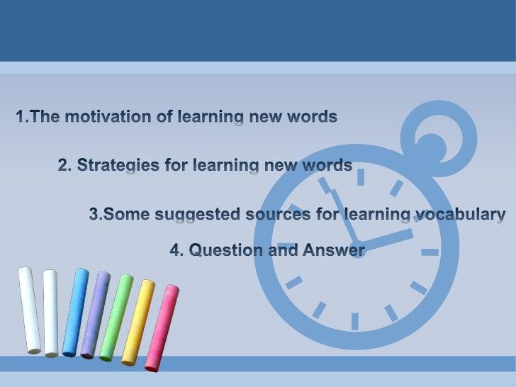 Strategies for learning new words Slide 2