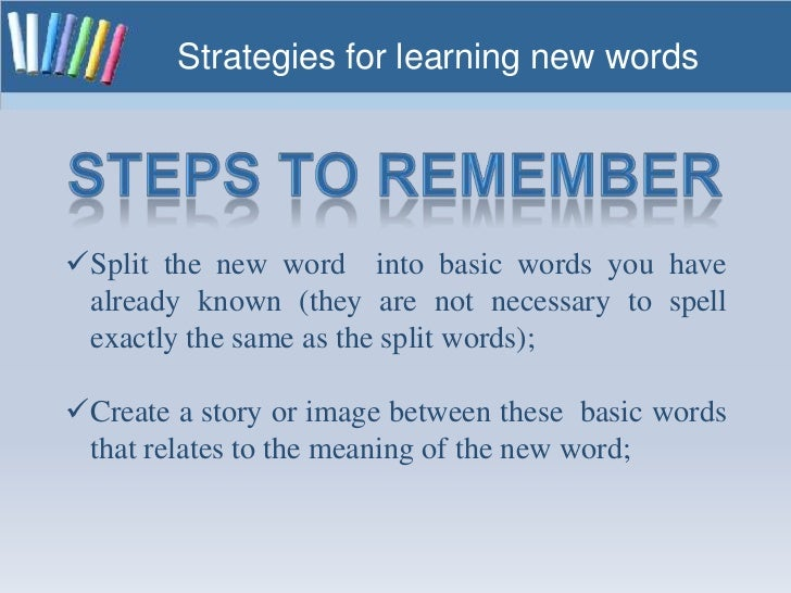 Strategies For Learning New Words