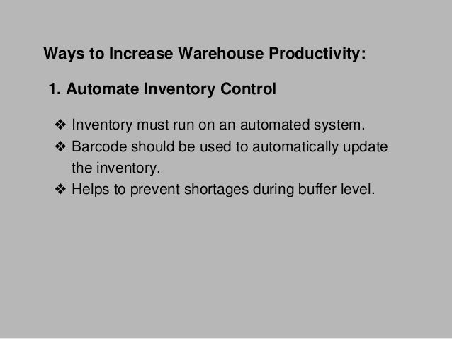 Strategies for making your warehouse more efficient Slide 3