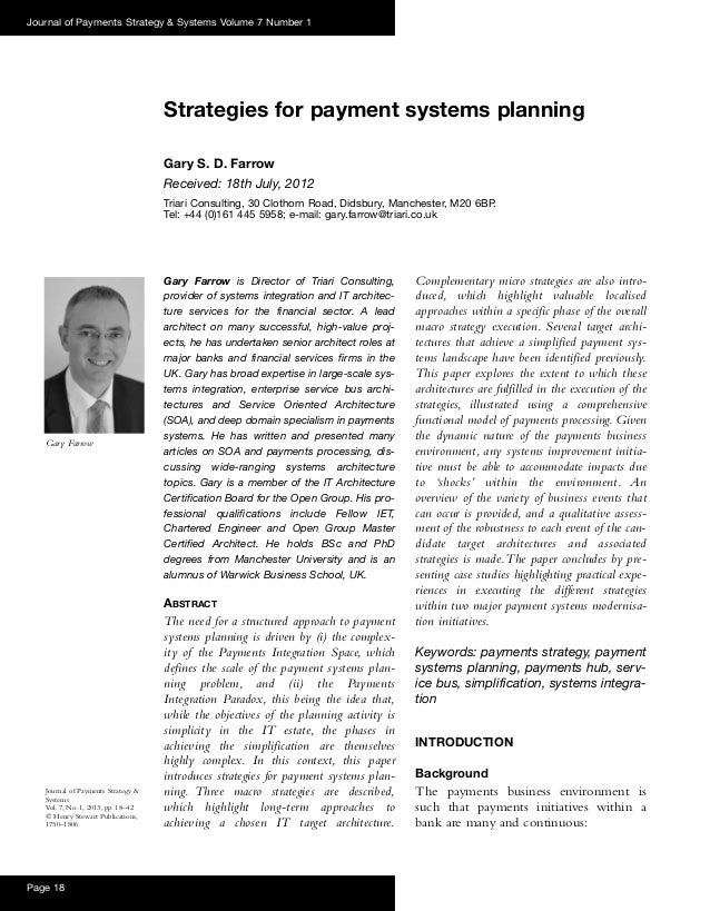 Gary Farrow is Director of Triari Consulting,provider of systems integration and IT architec-ture services for the financi...