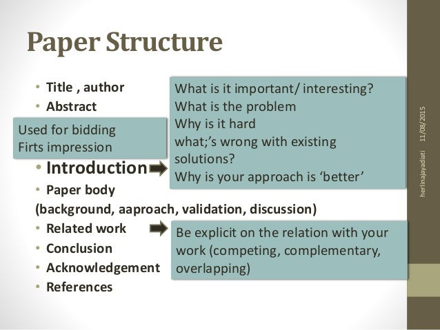 Scientific essay structure