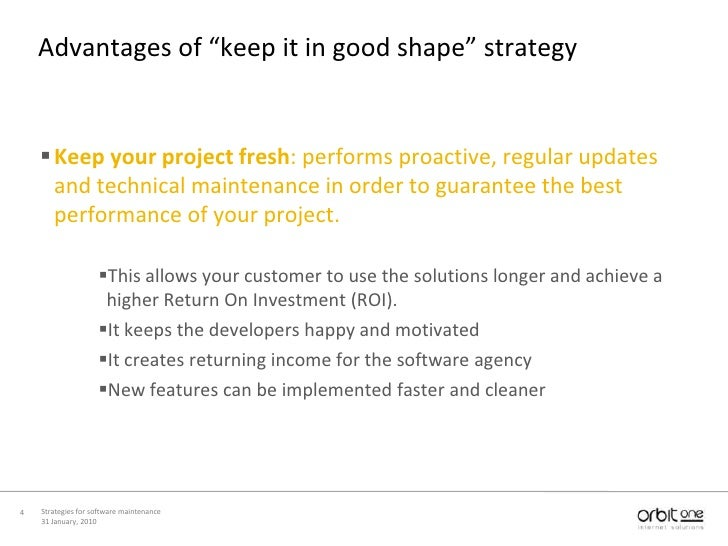 Strategies For Software Maintenance