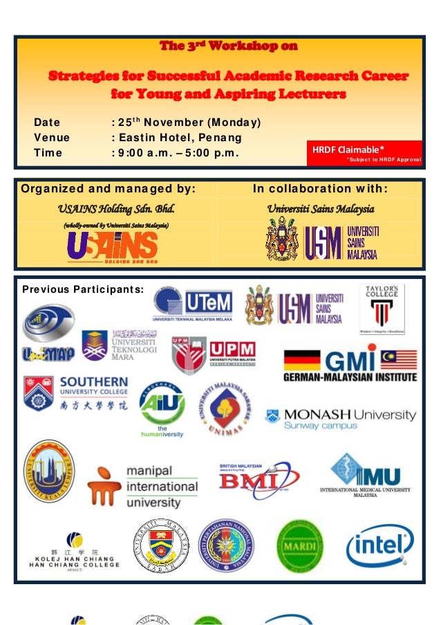 Organized and managed by: In collaboration with:USAINS Holding Sdn. Bhd.(wholly-owned by Universiti Sains Malay...