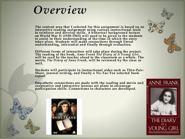 an analysis of the story diary of anne frank Anne frank's diary of a young girl: themes & analysis the diary of anne frank tells the story of anne and her family's struggles while they were hiding during.