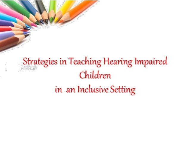 Inclusion in an education setting