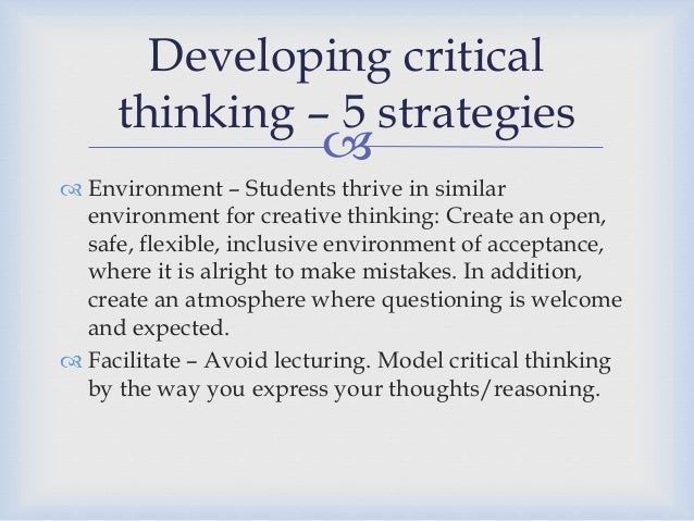 What is critical thinking?