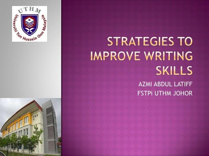 Essay Test Strategies