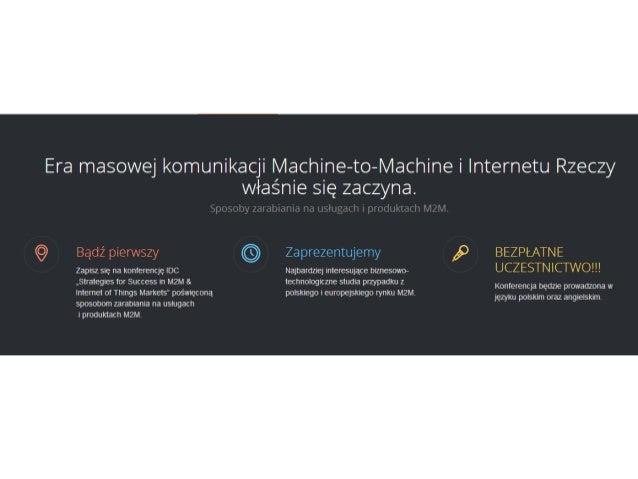 Strategie sukcesu na rynkach M2M & Internetu Rzeczy