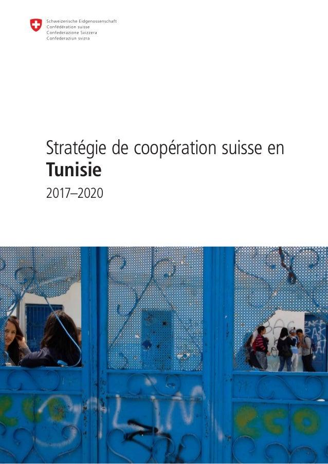 Stratégie de coopération suisse en Tunisie 2017–2020