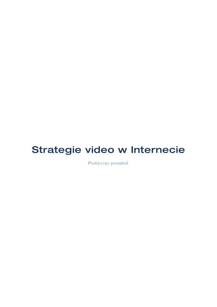 Strategie video w Internecie           Praktyczny poradnik