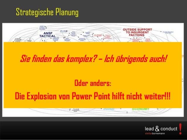 Strategische PlanungSie finden das komplex? – Ich übrigends auch!Oder anders:Die Explosion von Power Point hilft nicht wei...