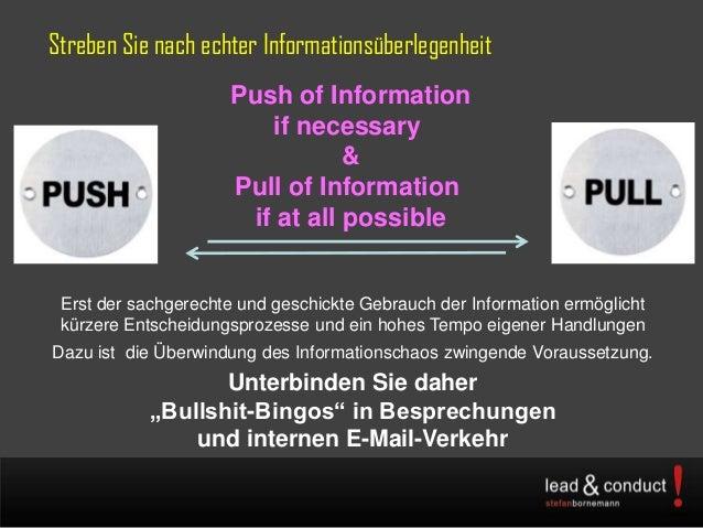 Streben Sie nach echter InformationsüberlegenheitErst der sachgerechte und geschickte Gebrauch der Information ermöglichtk...