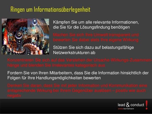 Ringen um InformationsüberlegenheitKämpfen Sie um alle relevante Informationen,die Sie für die Lösungsfindung benötigenMac...