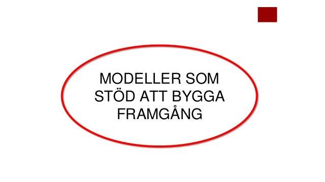 MODELLER SOM STÖD ATT BYGGA FRAMGÅNG