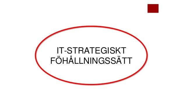 IT-STRATEGISKT FÖHÅLLNINGSSÄTT