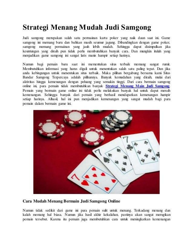 Strategi Menang Mudah Judi Samgong