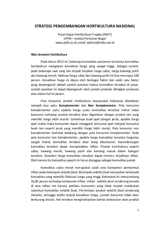STRATEGI PENGEMBANGAN HORTIKULTURA NASIONAL Pusat Kajian Hortikultura Tropika (PKHT) LPPM – Institut Pertanian Bogor www.p...