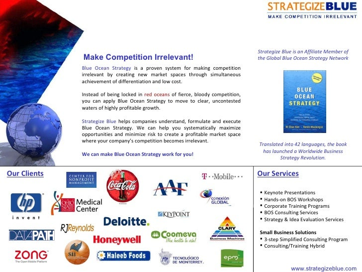 Blue Ocean Strategy  is a proven system for making competition irrelevant by creating new market spaces through simultaneo...