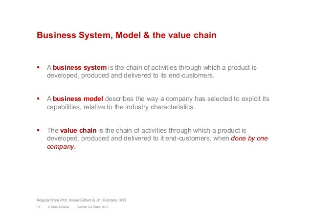 Business System, Model & the value chain§ A business system is the chain of activities through which a product isdevelop...