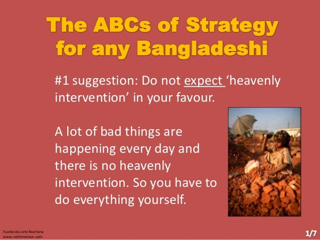 #1 suggestion: Do not expect 'heavenly intervention' in your favour. A lot of bad things are happening every day and there...