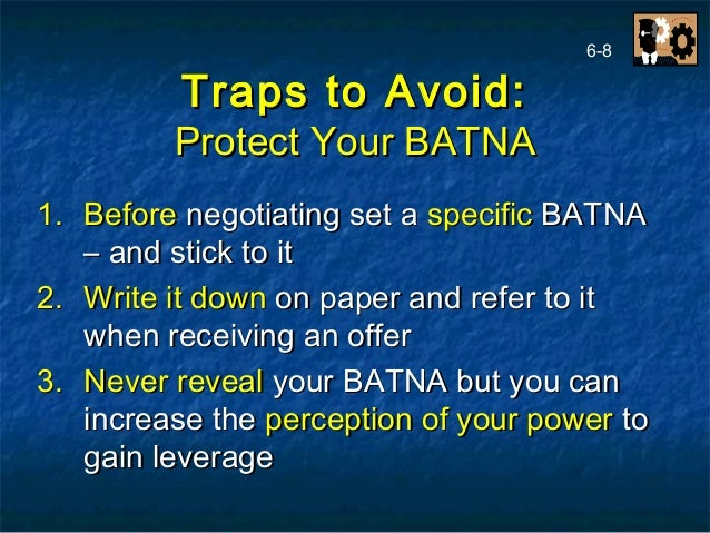 negotiation and batna essay Free essay: planning for rapid & scott negotiation in any  fd walked into the  negotiation with a poor batna: no agreement meant fd risked.