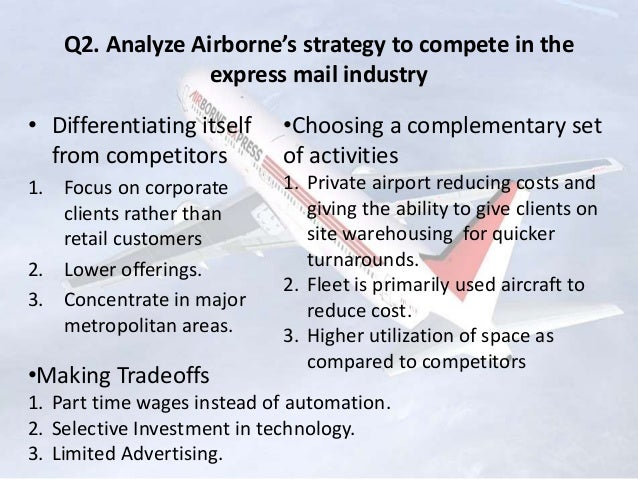 cost structure of airborne express Airborne has been engineering and manufacturing composites for two decades now during this time, we have gained a reputation.
