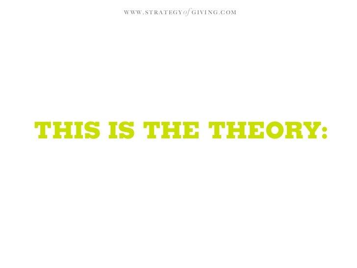 WWW.STRATEGY   of G I V I N G . C O M     THIS IS THE THEORY:
