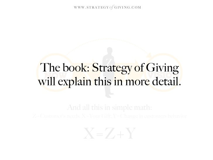 WWW.STRATEGY   of G I V I N G . C O M                                  Z   The book: Strategy of Giving   COMPANY    NOW  ...