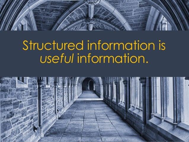 @ redsesame #confabEDU 15 Structured information is useful information.