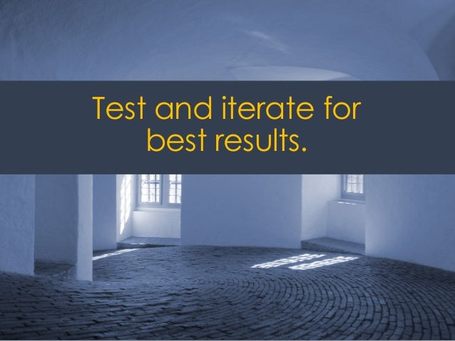 @ redsesame #confabEDU 40 Test and iterate for best results.