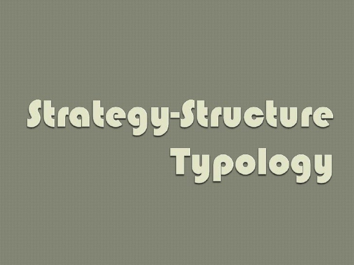 Strategy-Structure Typology<br />