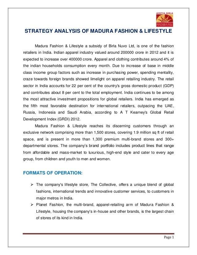 Strategy Analysis Of Madura F L