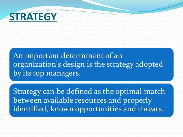 the relationship between structure and strategy But as kim and mauborgne, the authors of blue ocean strategy, point out, history reveals plenty of situations in which firms' strategies shaped structure—from ford's model t to nintendo's wii.