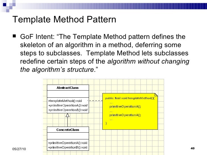Strategy and Template Pattern