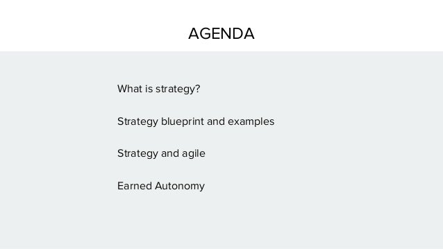 Strategy blueprint for agile jimkalbach 3 agenda what is strategy strategy blueprint malvernweather Choice Image