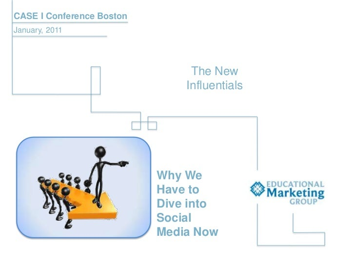 CASE I Conference Boston<br />January, 2011<br />Influentials<br />The New <br />Why We Have to Dive into Social Media Now...