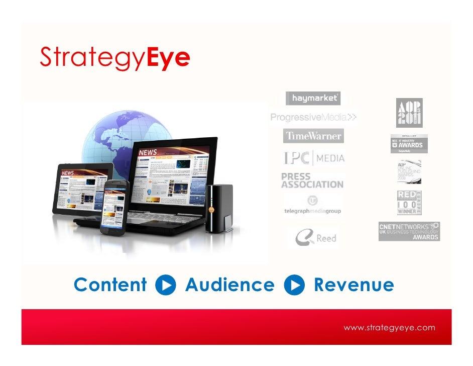 StrategyEye  Content   Audience   Revenue                         www.strategyeye.com
