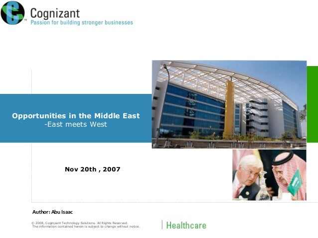 © 2008, Cognizant Technology Solutions. All Rights Reserved. The information contained herein is subject to change without...