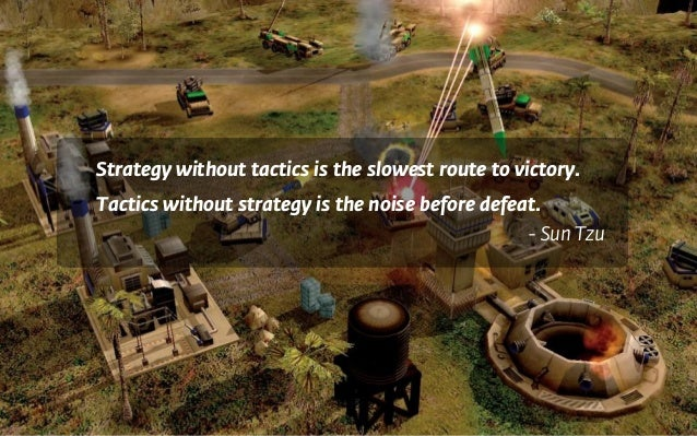 Strategy without tactics is the slowest route to victory. Tactics without strategy is the noise before defeat. - Sun Tzu