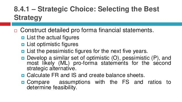 strategy formulation functional strategy and strategic choice