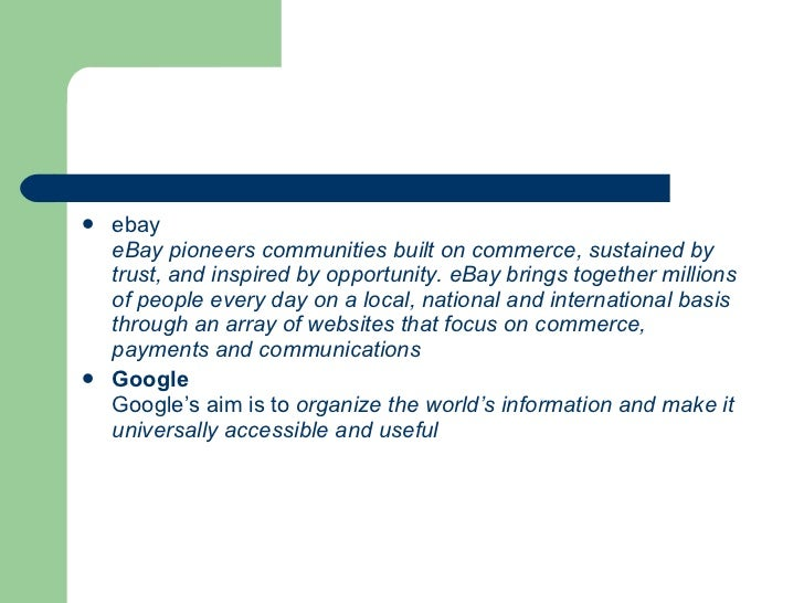 ebay corporate strategy